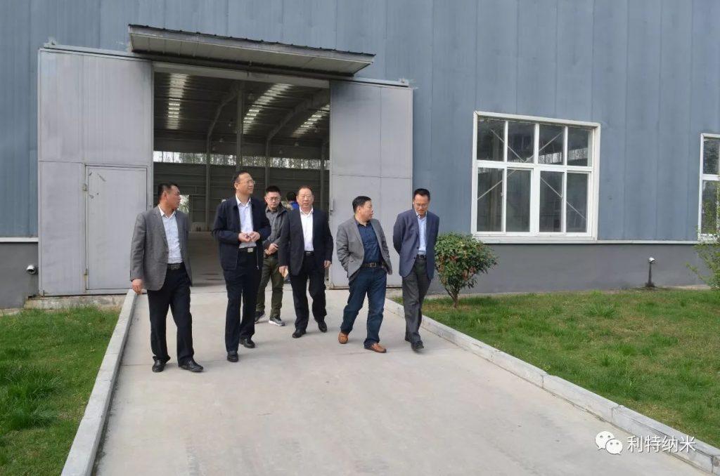 中国信达股权经营部总经理酒正超一行考察利特纳米研发中心及金利特生产基地