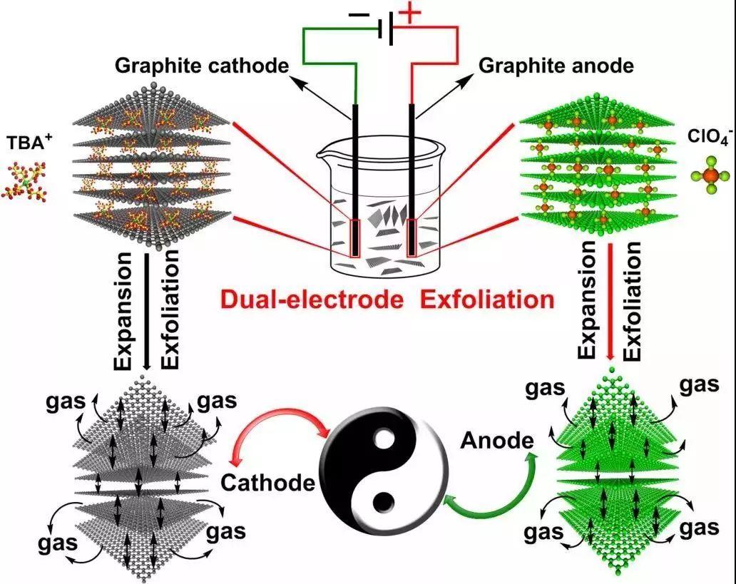 西安交大在电化学双电极大规模生产高质量石墨烯研究方面取得新进展